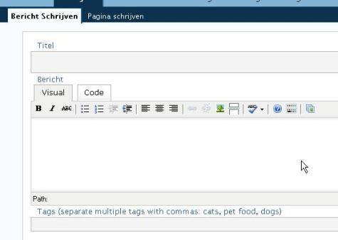 WordPress Bericht of Post scherm overzicht