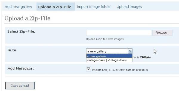 Upload van afbeeldingen vanuit een Zip Bestand