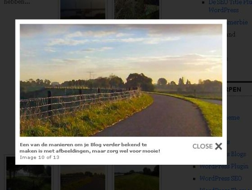 Lightbox effect in een WordPress Blog