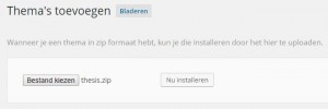 Premium WordPress Uploaden via Thema's toevoegen