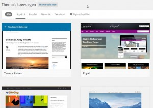 WordPress Thema's toevoegen