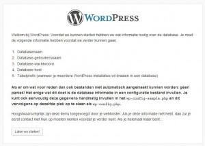 WordPress Handmatige Installatie Stap 2