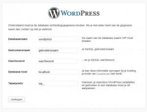 WordPress Handmatige Installatie Stap 3