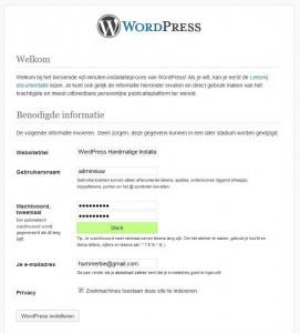 WordPress Handmatige Installatie Stap 7