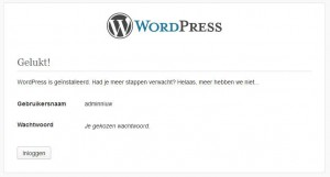 WordPress Handmatige Installatie Afgerond