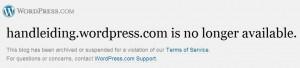 handleiding.wordpress.com is gesloten